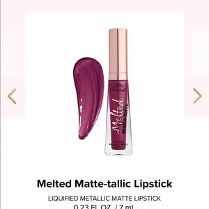 Too Faced Melted Matte-tallic lipstick New